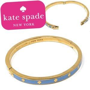 NWT Kate Spade Spot the Spade Hinged Bangle LTBLue